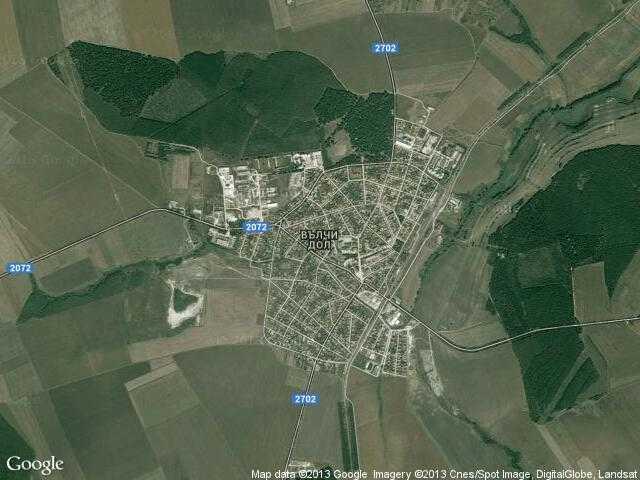 Сателитна карта на Вълчи дол