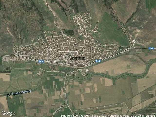 Сателитна карта на Дългопол