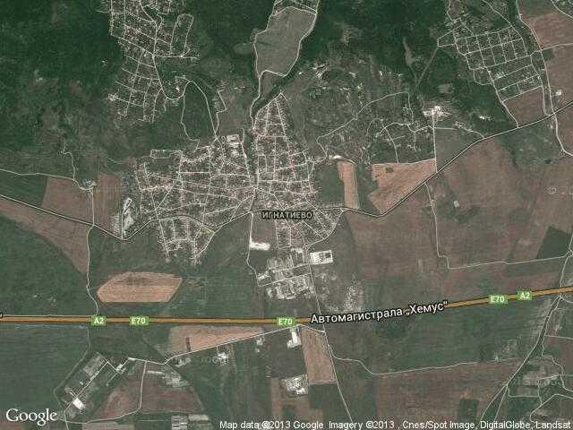 Сателитна карта на Игнатиево
