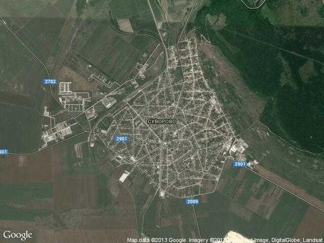 Сателитна карта на Суворово