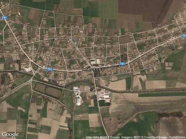 Сателитна карта на Блъсково
