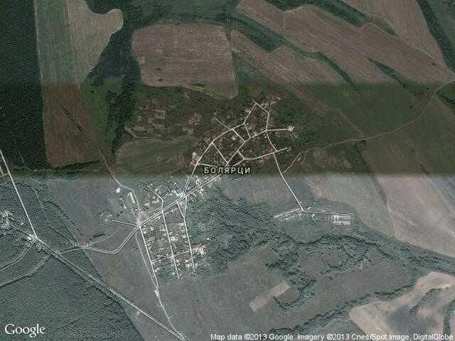 Сателитна карта на Болярци