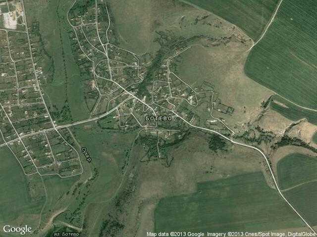 Сателитна карта на Ботево