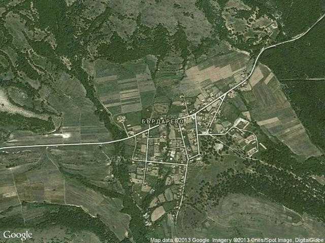 Сателитна карта на Бърдарево