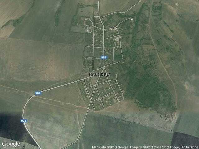 Сателитна карта на Бързица