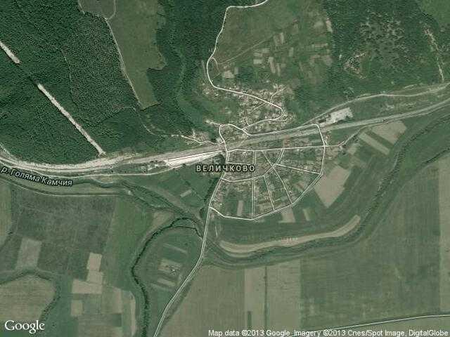 Сателитна карта на Величково