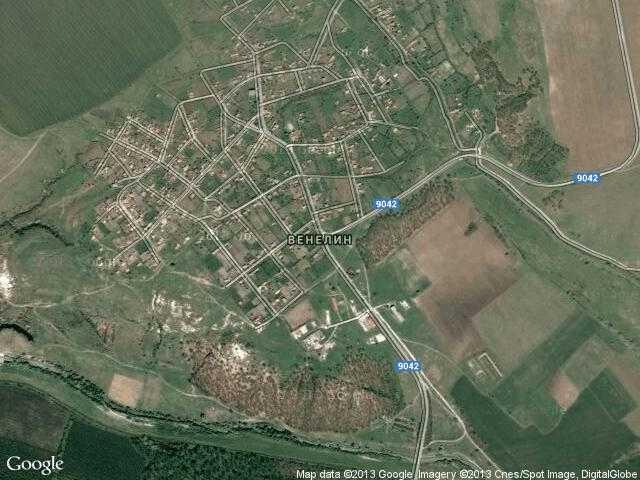 Сателитна карта на Венелин