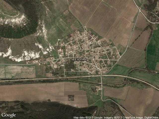 Сателитна карта на Венчан