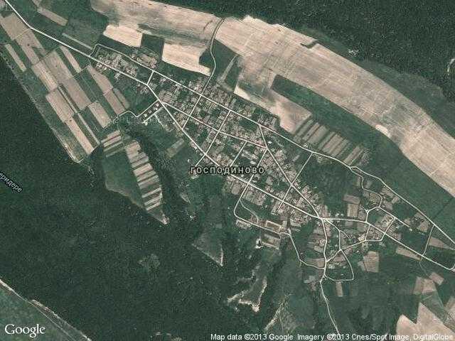 Сателитна карта на Господиново