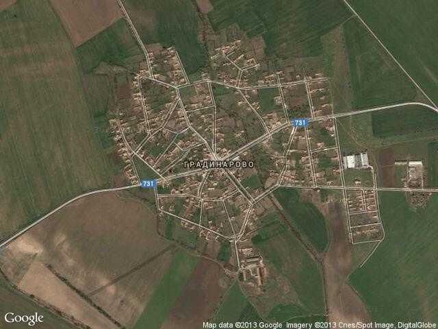 Сателитна карта на Градинарово