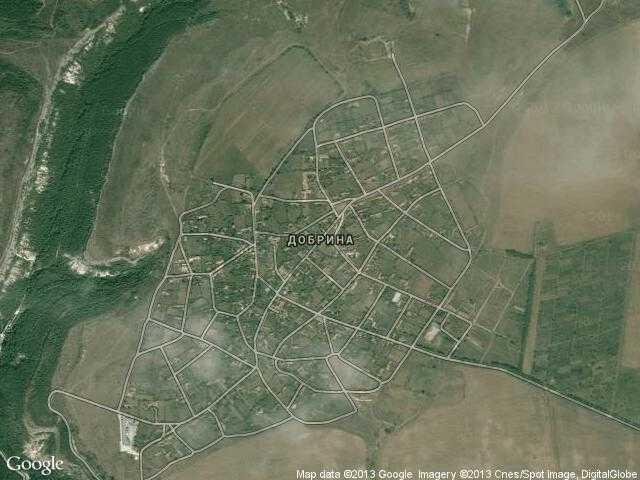 Сателитна карта на Добрина