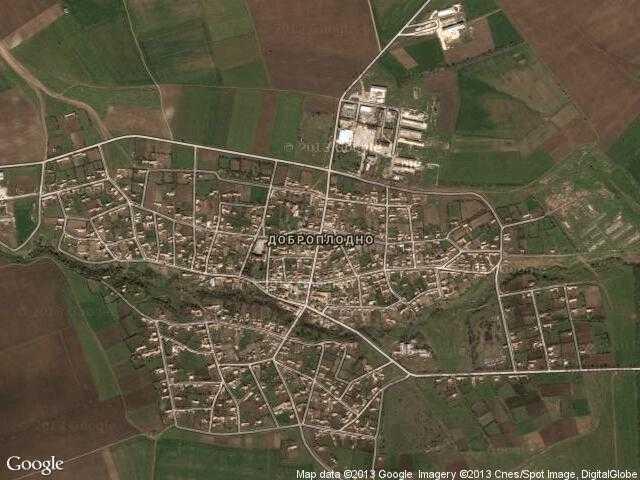 Сателитна карта на Доброплодно