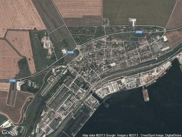 Сателитна карта на Езерово
