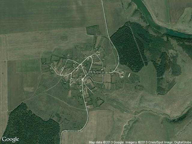 Сателитна карта на Звънец