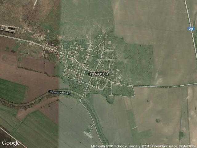 Сателитна карта на Златина