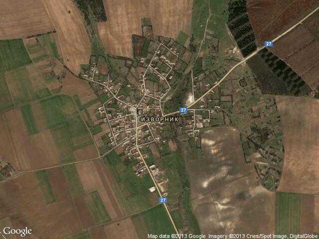 Сателитна карта на Изворник