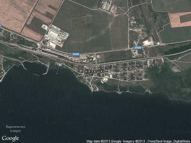 Сателитна карта на Казашко