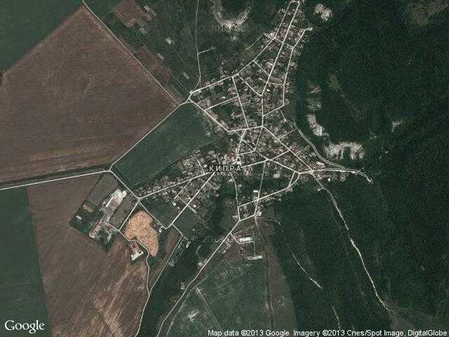 Сателитна карта на Кипра