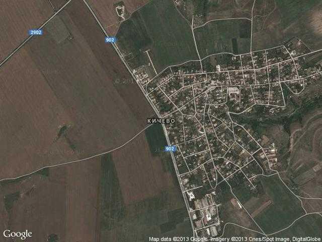 Сателитна карта на Кичево