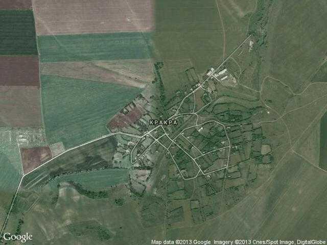 Сателитна карта на Кракра