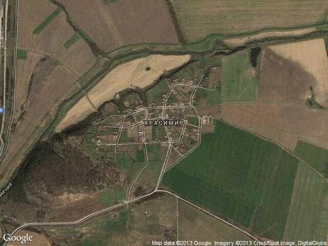 Сателитна карта на Красимир