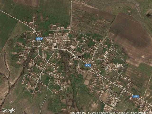 Сателитна карта на Кривня