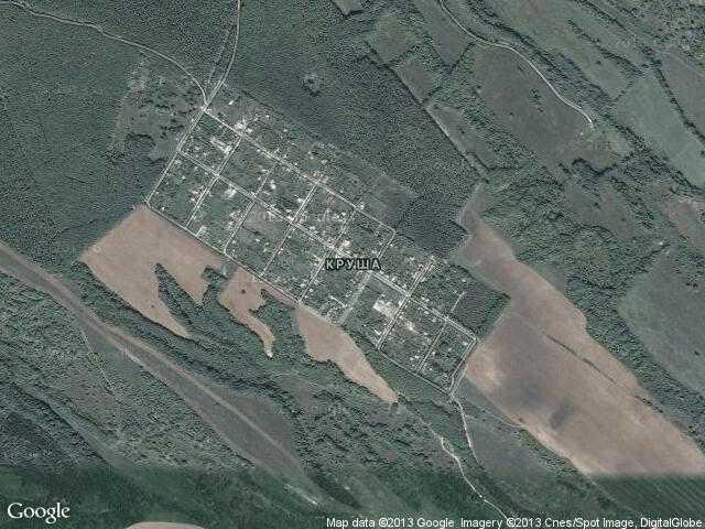 Сателитна карта на Круша