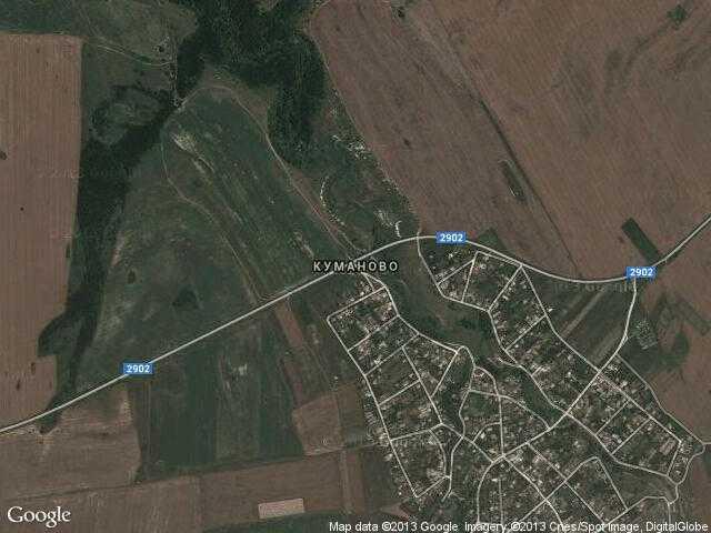 Сателитна карта на Куманово