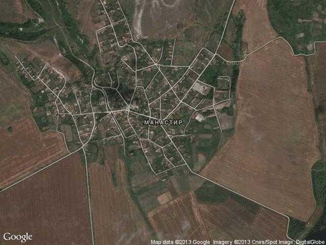 Сателитна карта на Манастир