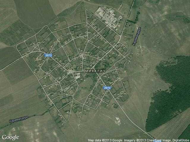 Сателитна карта на Михалич
