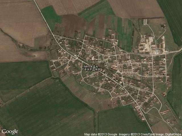 Сателитна карта на Млада гвардия