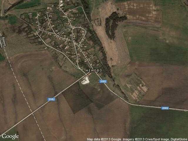 Сателитна карта на Неново