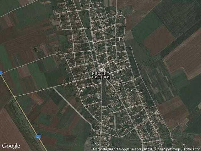 Сателитна карта на Неофит Рилски