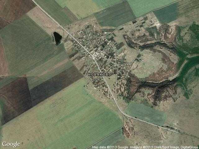 Сателитна карта на Новаково
