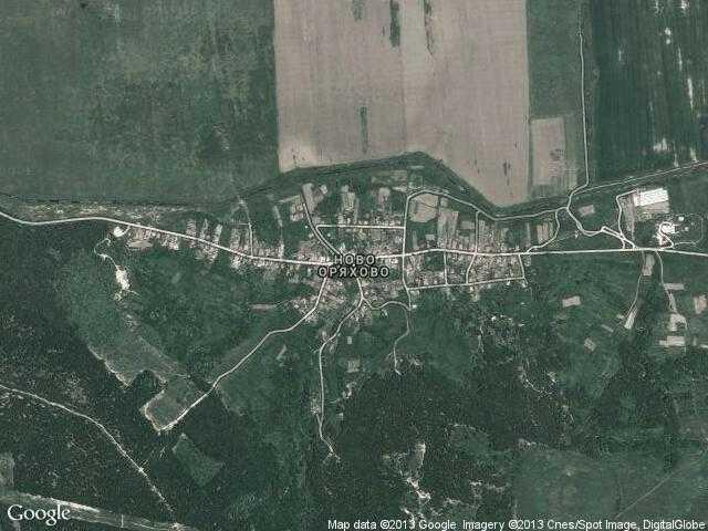 Сателитна карта на Ново Оряхово