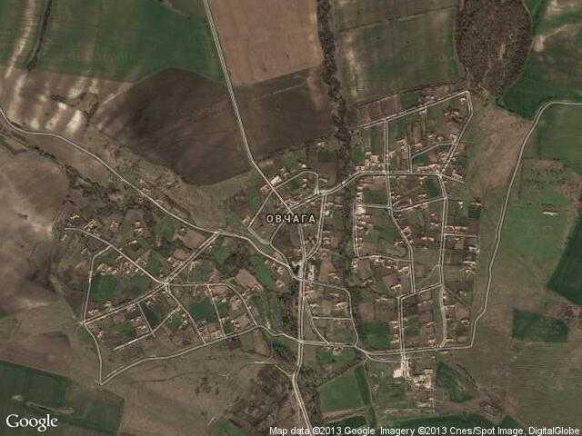Сателитна карта на Овчага