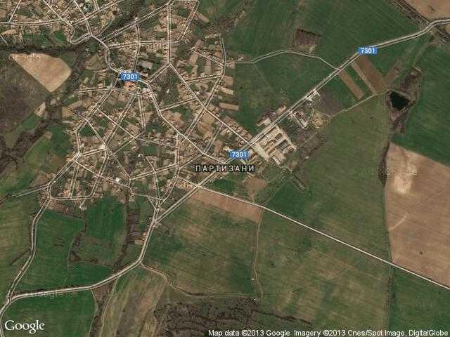 Сателитна карта на Партизани