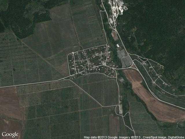 Сателитна карта на Припек