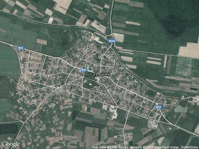 Сателитна карта на Пчелник