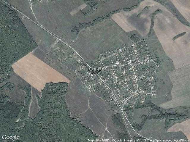 Сателитна карта на Равна гора