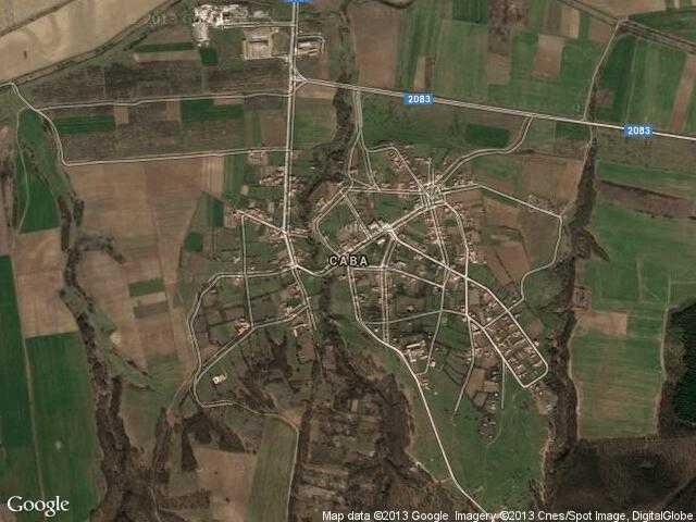 Сателитна карта на Сава