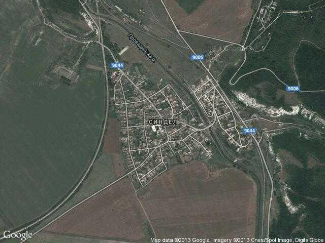 Сателитна карта на Синдел