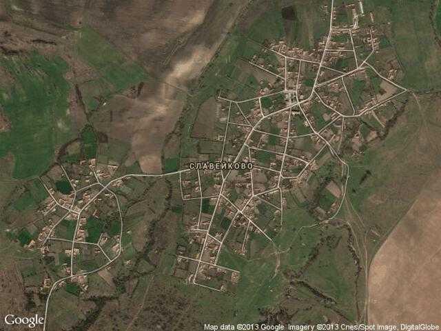 Сателитна карта на Славейково