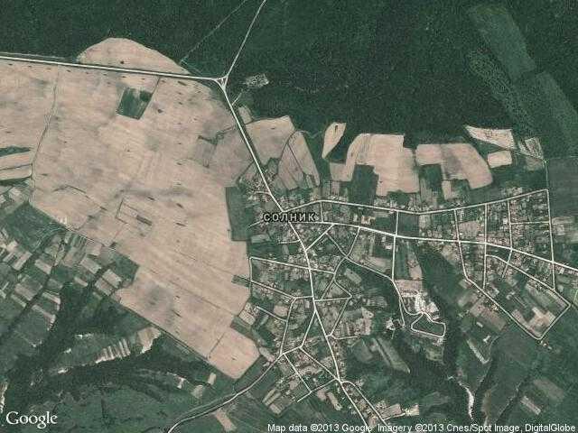Сателитна карта на Солник