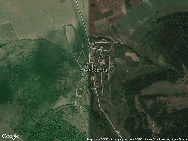 Сателитна карта на Староселец