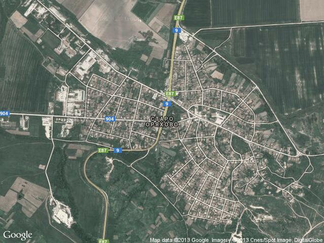 Сателитна карта на Старо Оряхово