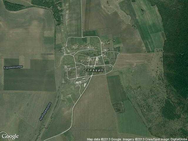 Сателитна карта на Страхил