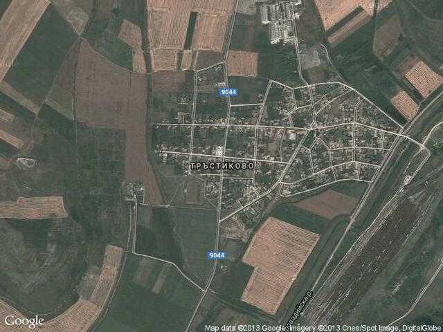 Сателитна карта на Тръстиково