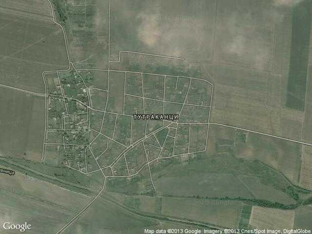Сателитна карта на Тутраканци