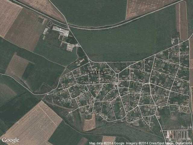 Сателитна карта на Царевци